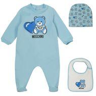 Bild von Moschino MUY03C Babystrampelanzug Hellblau
