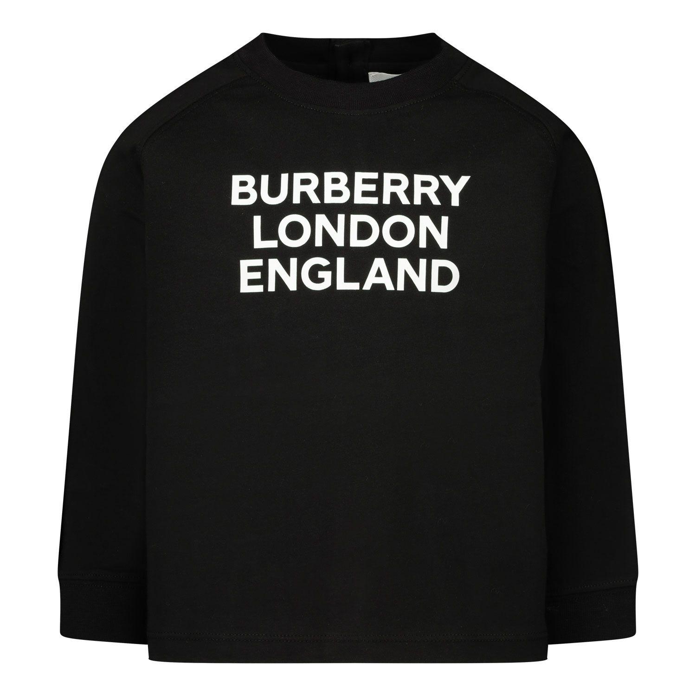 Afbeelding van Burberry 8031668 baby t-shirt zwart