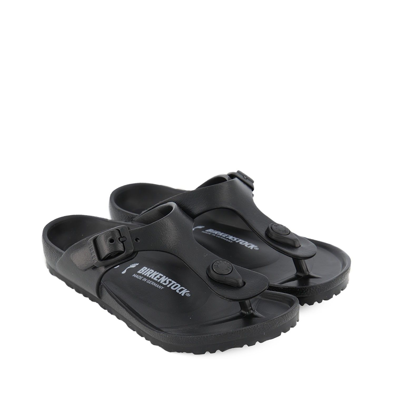 Picture of Birkenstock 128423 kids flipflops black