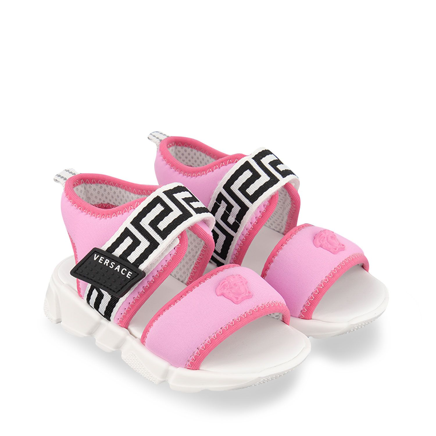 Picture of Versace 1000246 kids sandals pink