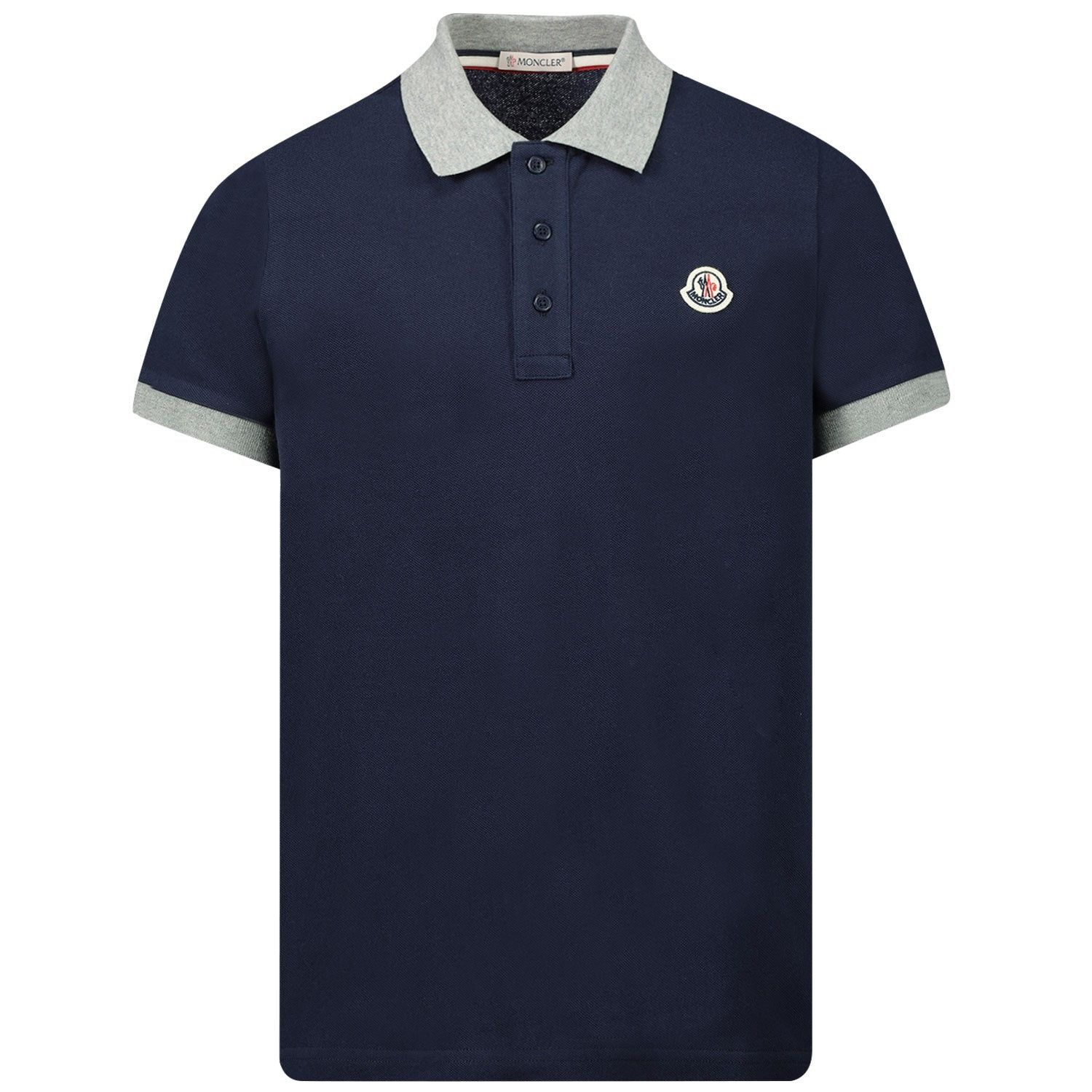 Picture of Moncler 8A70120 kids polo shirt navy