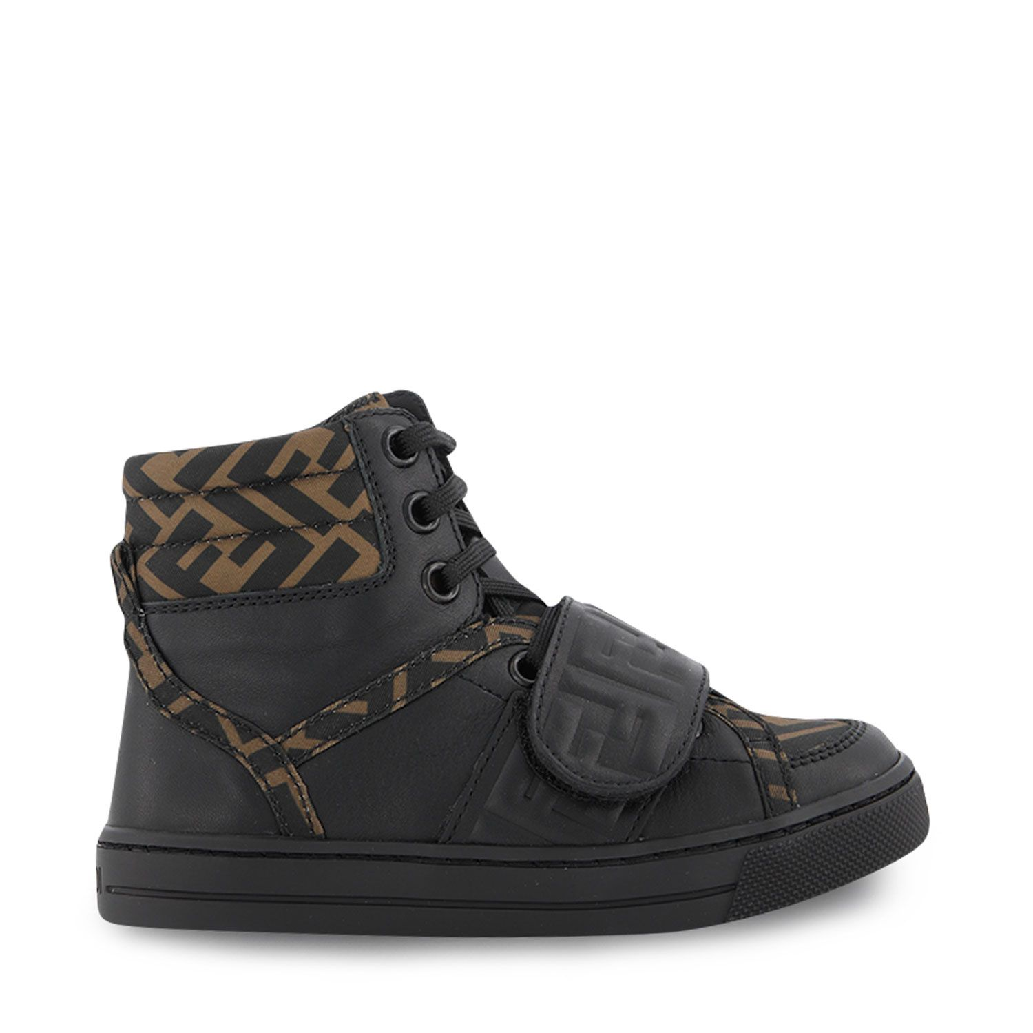 Picture of Fendi JMR351 kids sneakers black