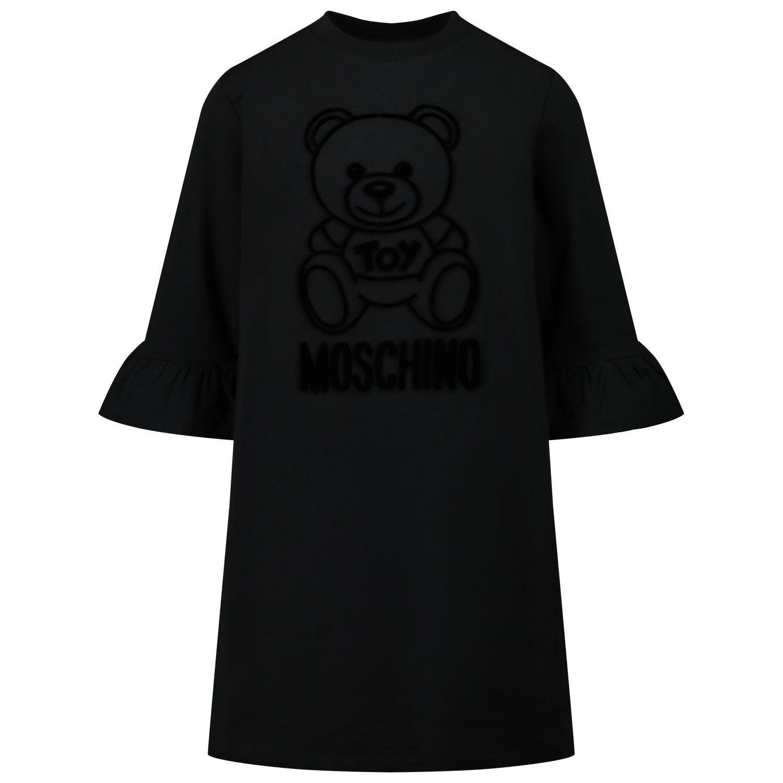 Picture of Moschino HAV081 kids dress black
