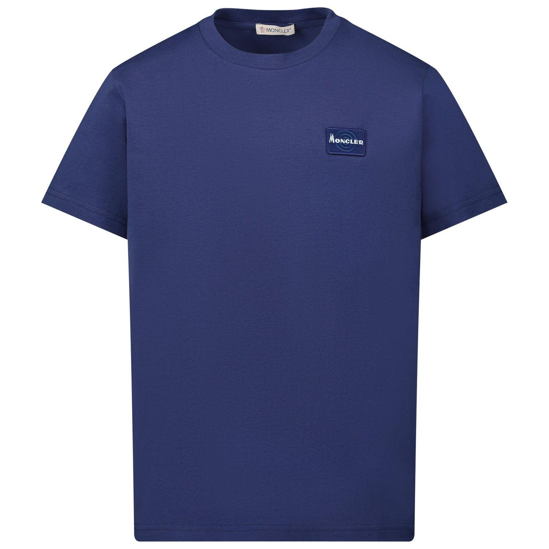 Afbeelding van Moncler 8C71820 kinder t-shirt cobalt blauw