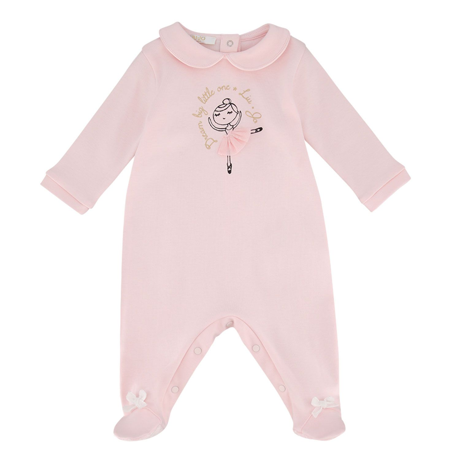 Picture of Liu Jo HF0010 baby playsuit light pink