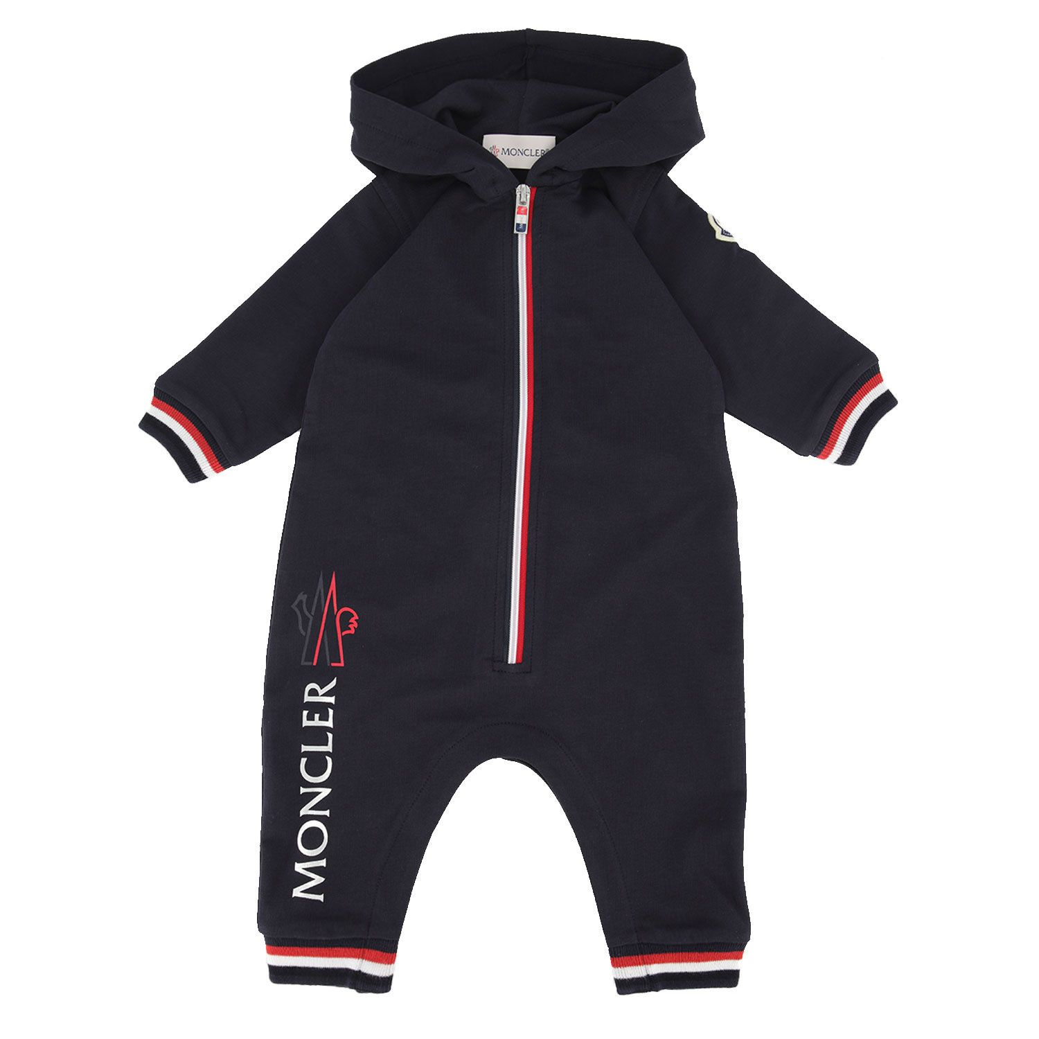 Picture of Moncler 8L72300 baby playsuit navy