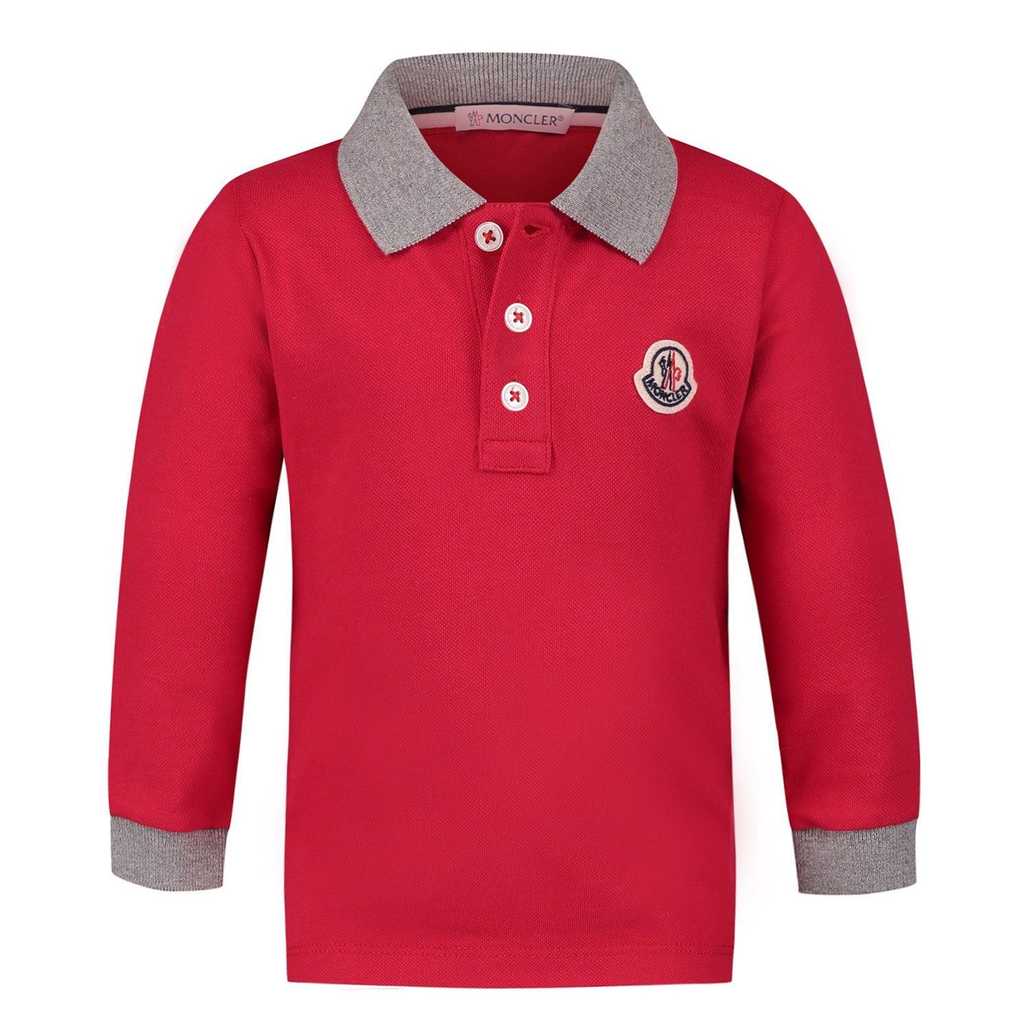 Picture of Moncler 8B70520 baby poloshirt red