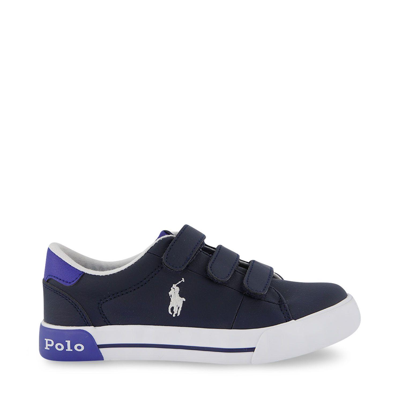 Picture of Ralph Lauren RF102974 kids sneakers navy