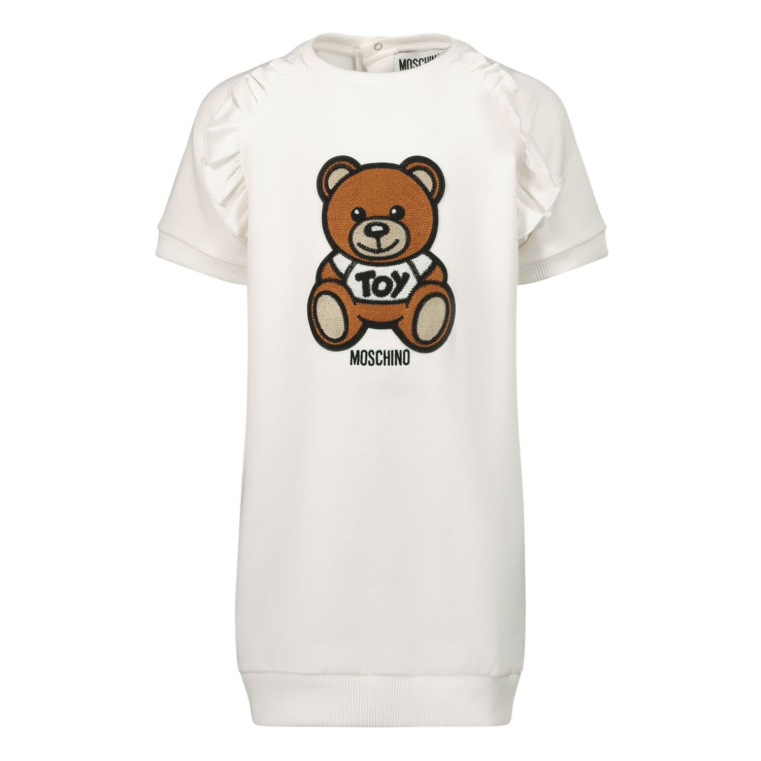 Picture of Moschino MDV08O baby dress white