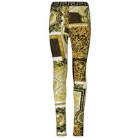Picture of Versace 1000364 1A00270 kids tights gold
