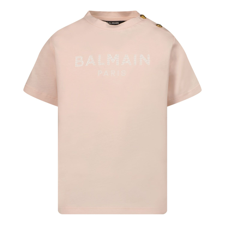 Picture of Balmain 6P8831 baby shirt light pink