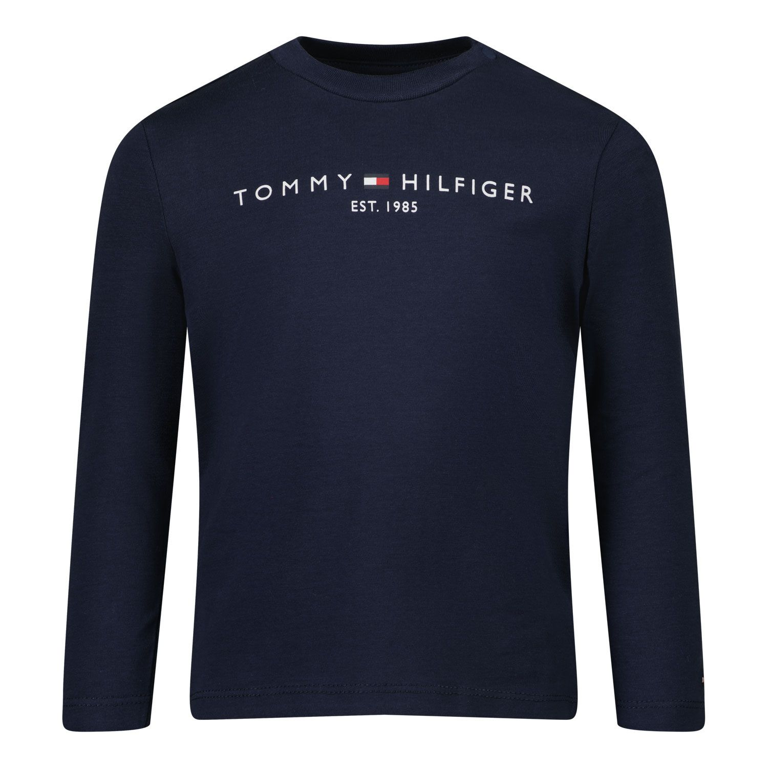 Picture of Tommy Hilfiger KN0KN01249 baby shirt navy
