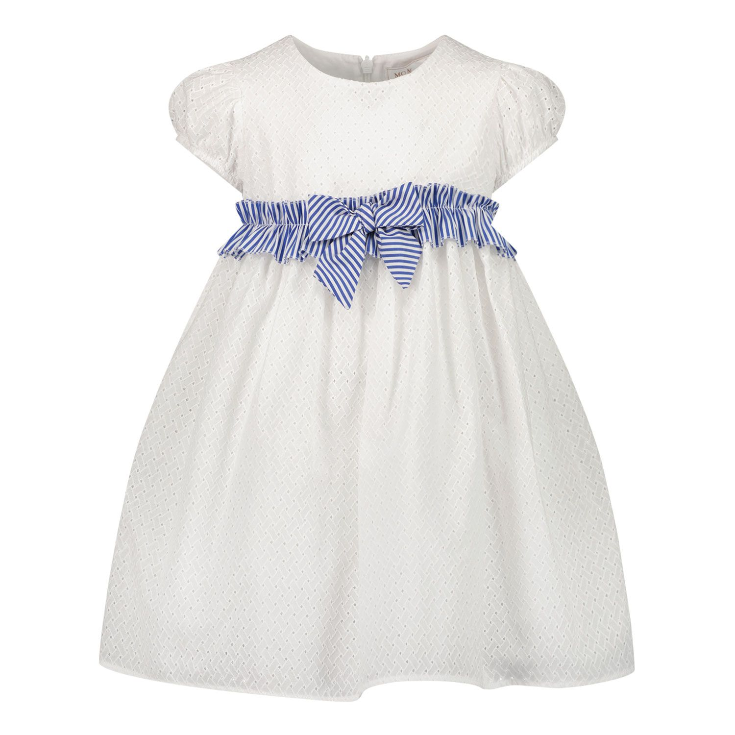 Picture of MonnaLisa 377910 baby dress white