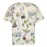 Picture of MonnaLisa 257604 kids t-shirt off white