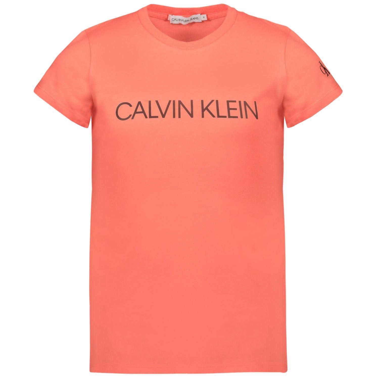 Afbeelding van Calvin Klein IG0IG00380 kinder t-shirt fluor roze