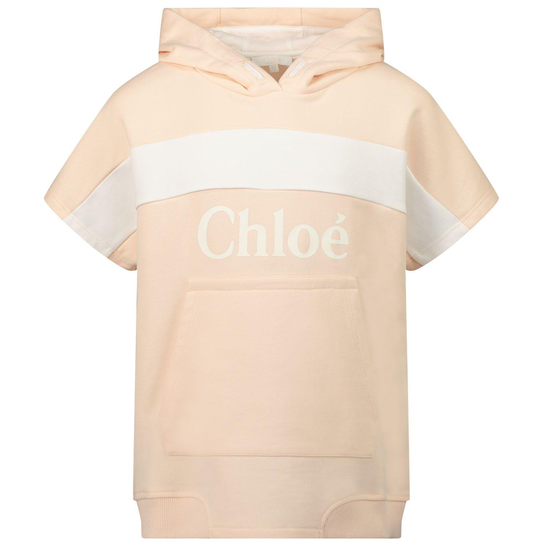 Picture of Chloé C15B80 kids sweater salmon