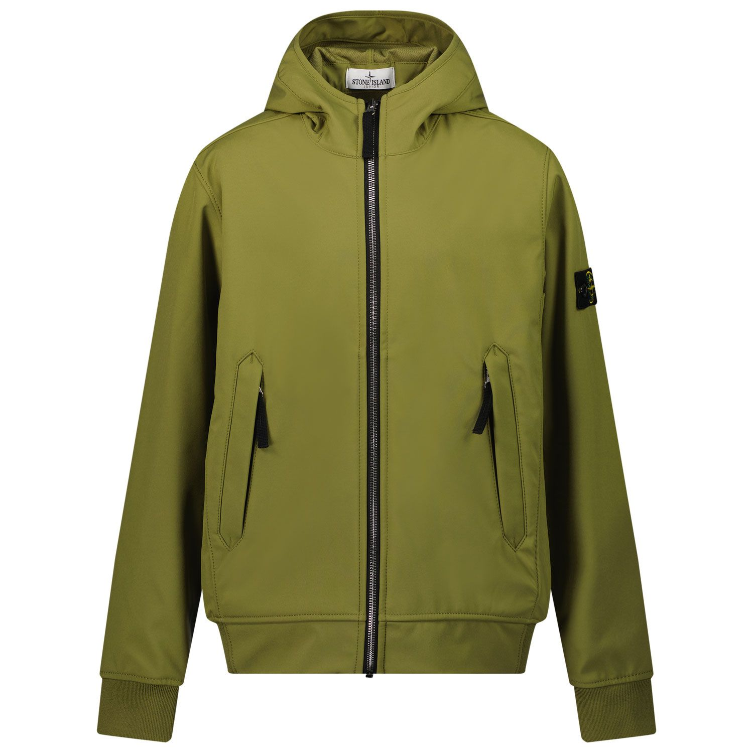 Picture of Stone Island 40134 kids jacket olive green