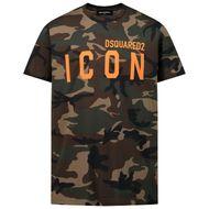 Afbeelding van Dsquared2 DQ048S D002V kinder t-shirt army