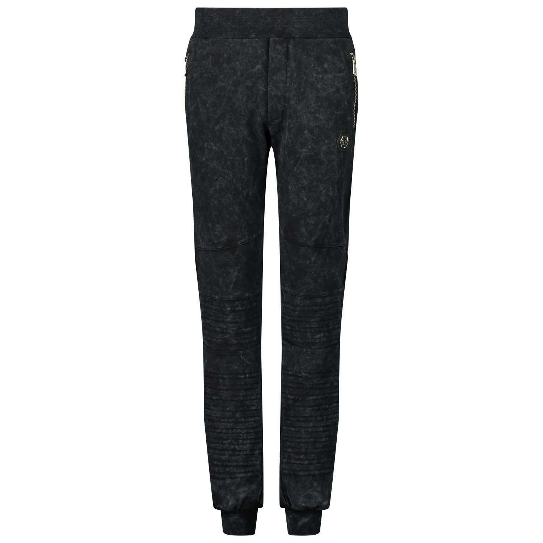 Picture of Philipp Plein F20C BJT0388 kids jeans black