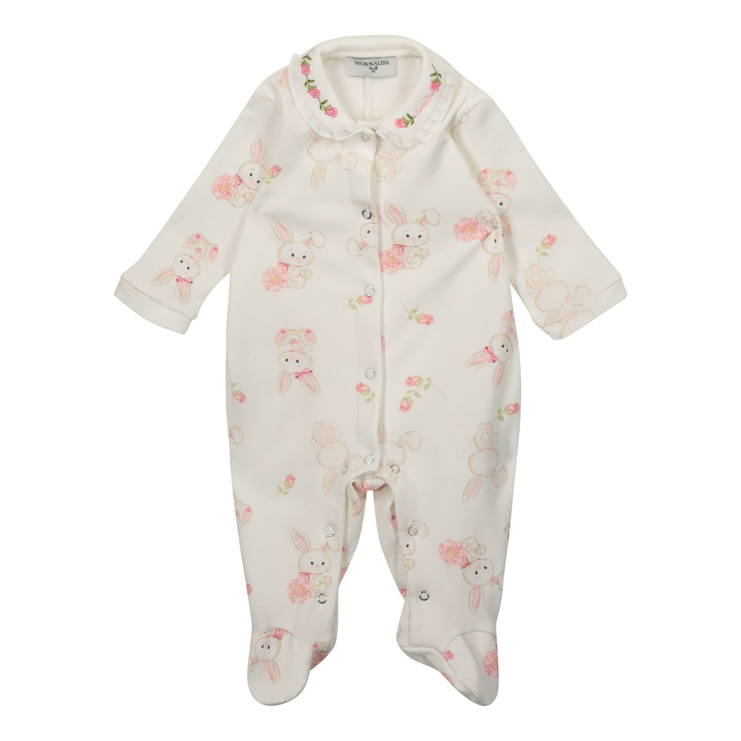 Picture of MonnaLisa 357200 baby playsuit off white