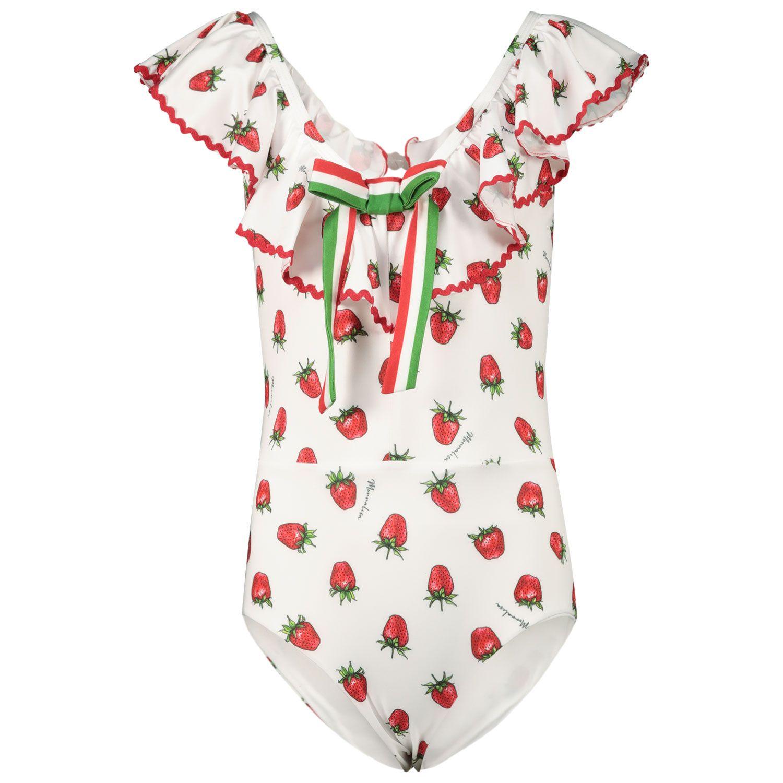 Picture of MonnaLisa 997009 kids swimwear white