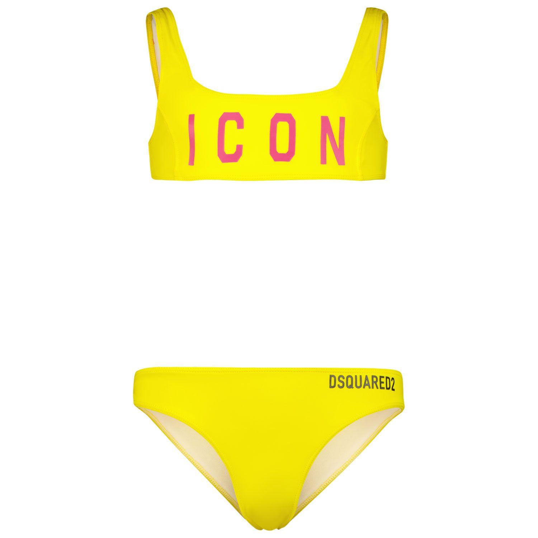 Picture of Dsquared2 DQ0275 kids swimwear yellow