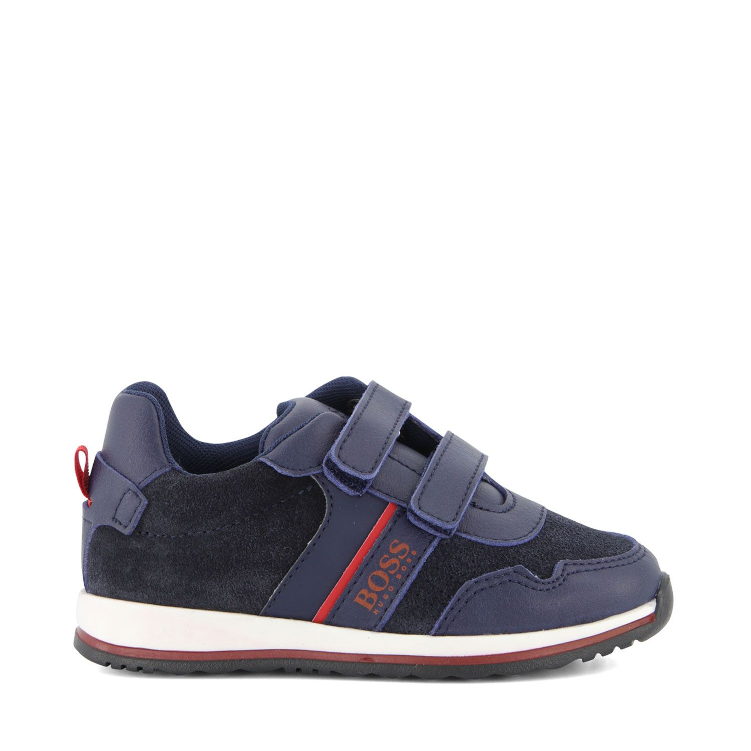 Picture of Boss J09148 kids sneakers navy