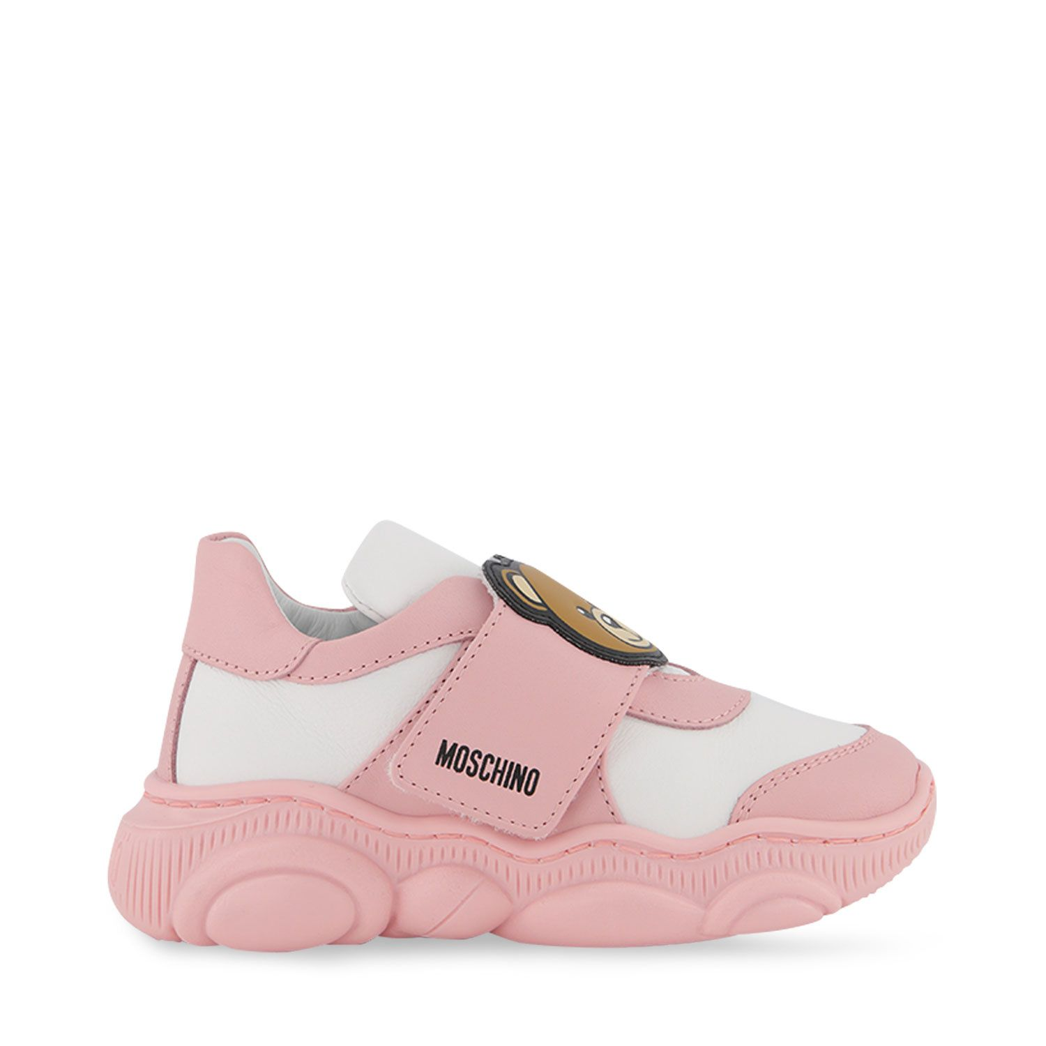 Picture of Moschino 68783 kids sneakers light pink