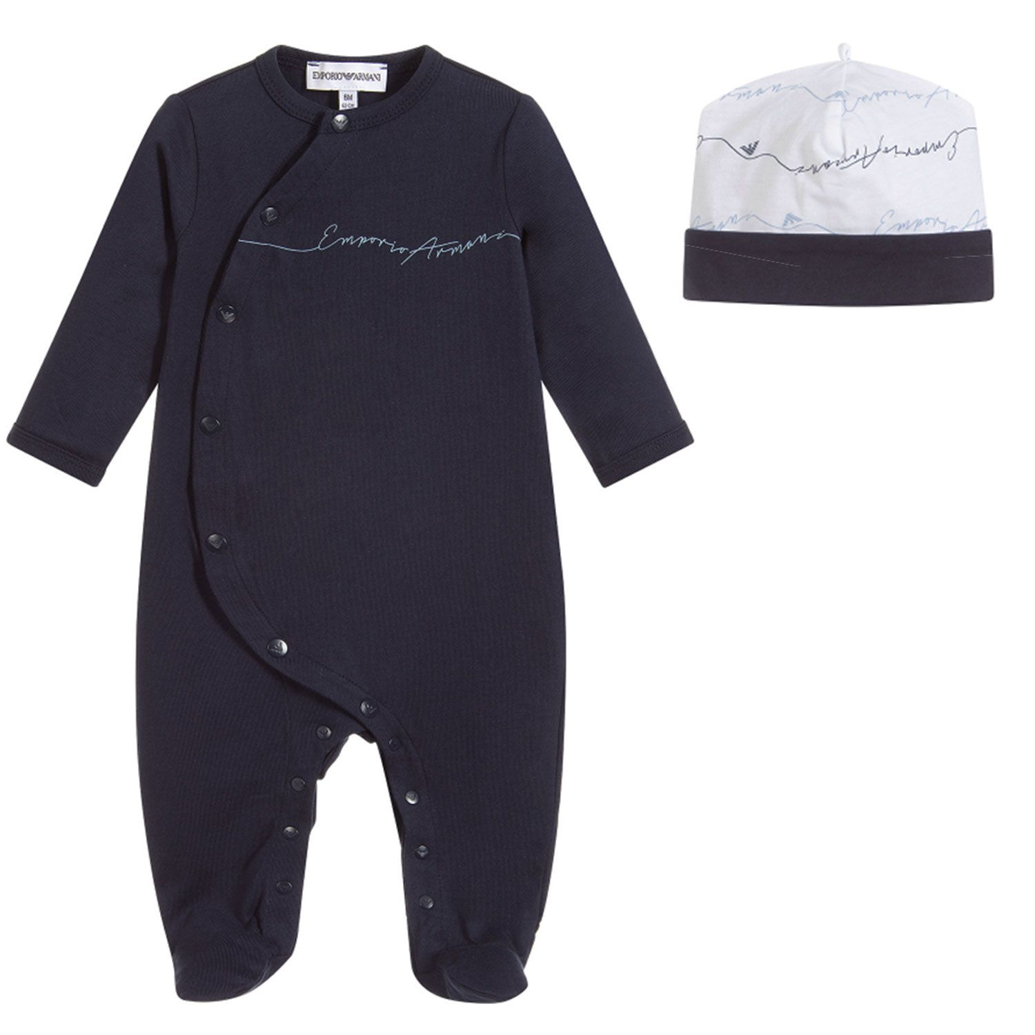 Picture of Armani 8NHV14 baby playsuit navy