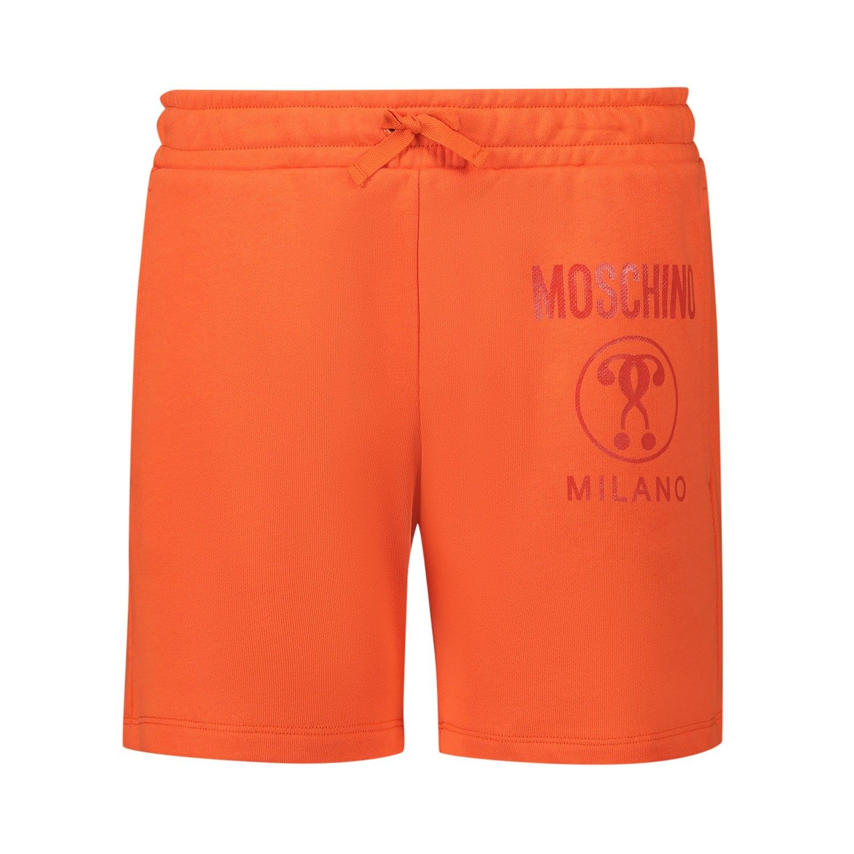Afbeelding van Moschino HMQ002 kinder shorts oranje