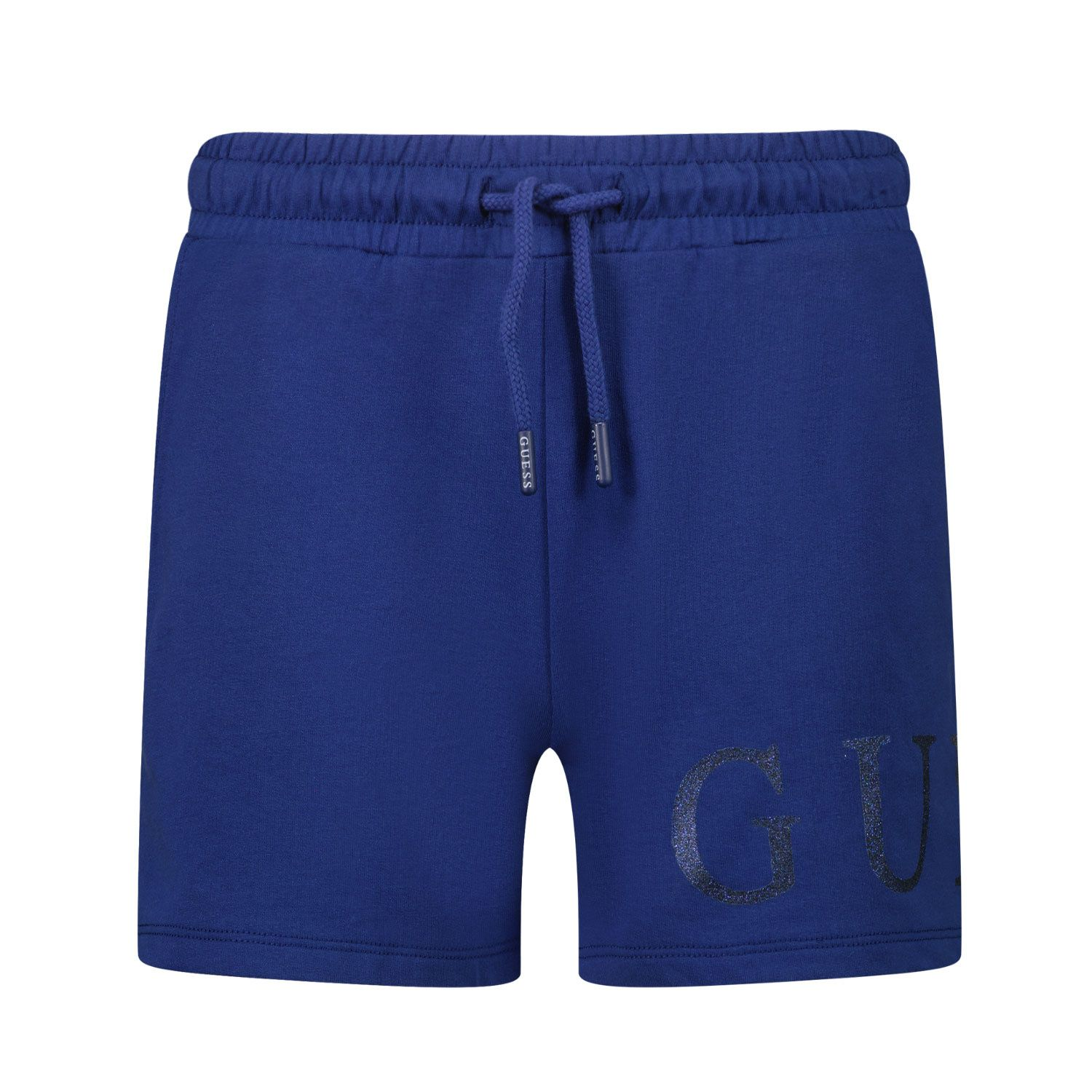 Picture of Guess J1GD00 kids shorts dark blue