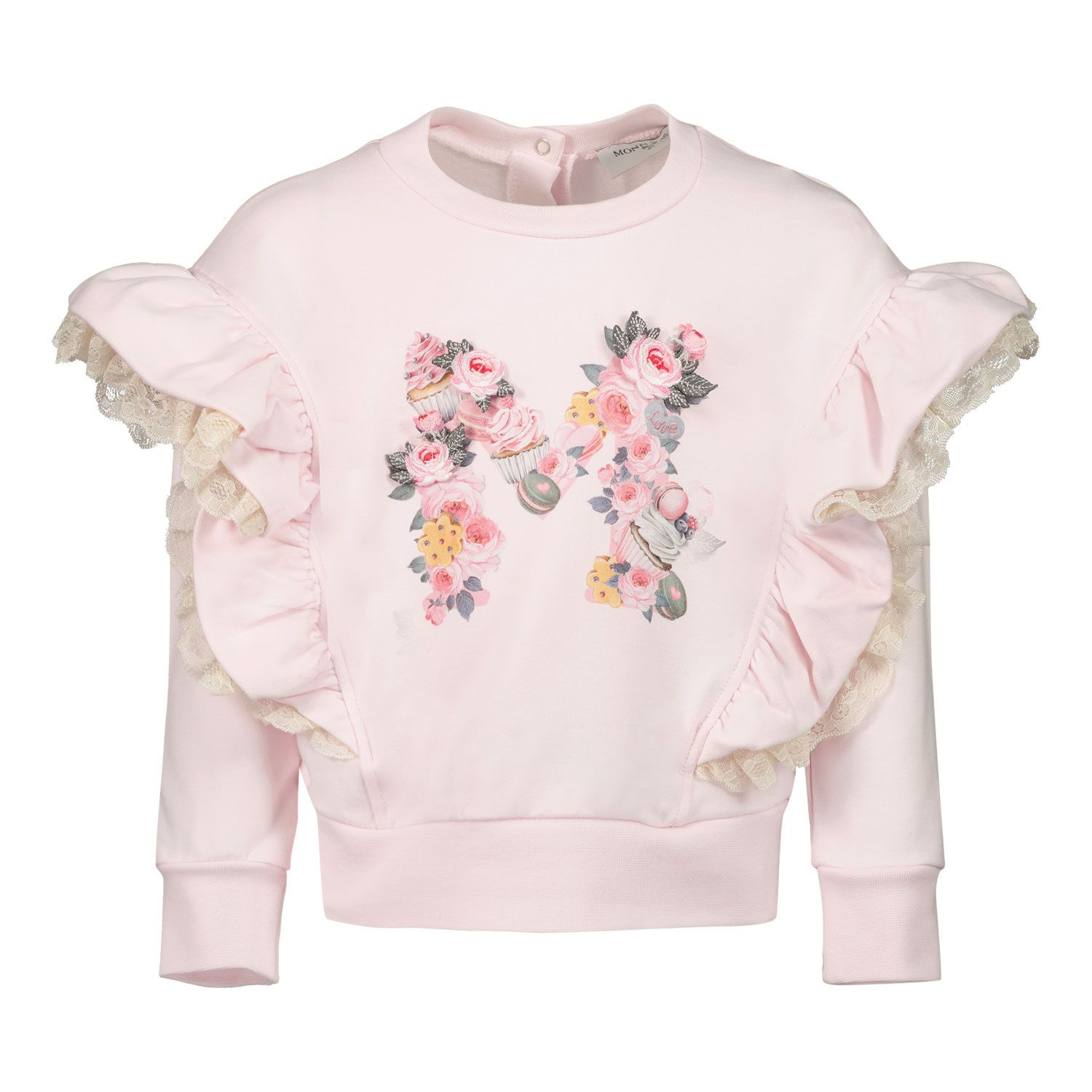 Picture of MonnaLisa 398600R3 baby sweater light pink
