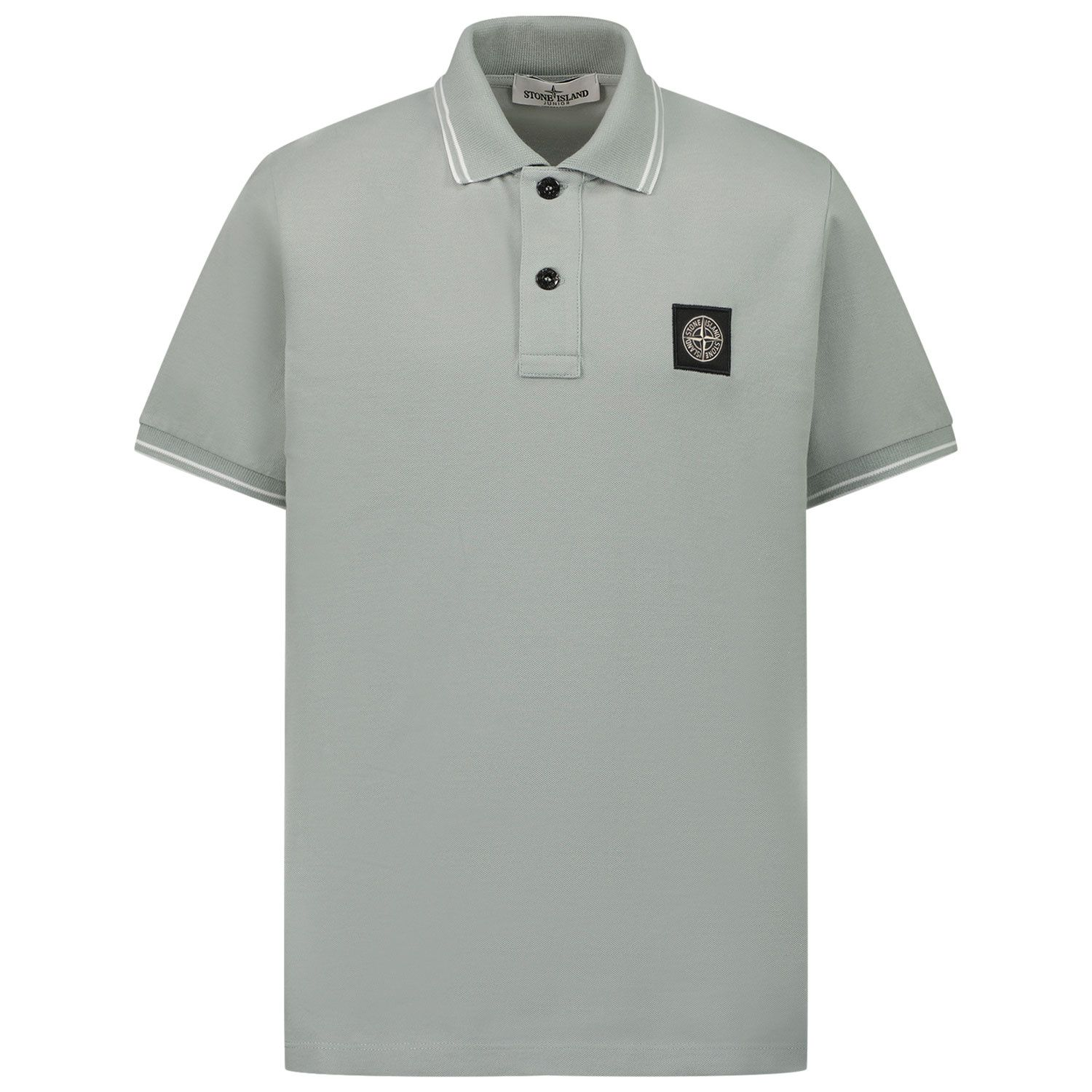 Picture of Stone Island 21348 kids polo shirt light gray