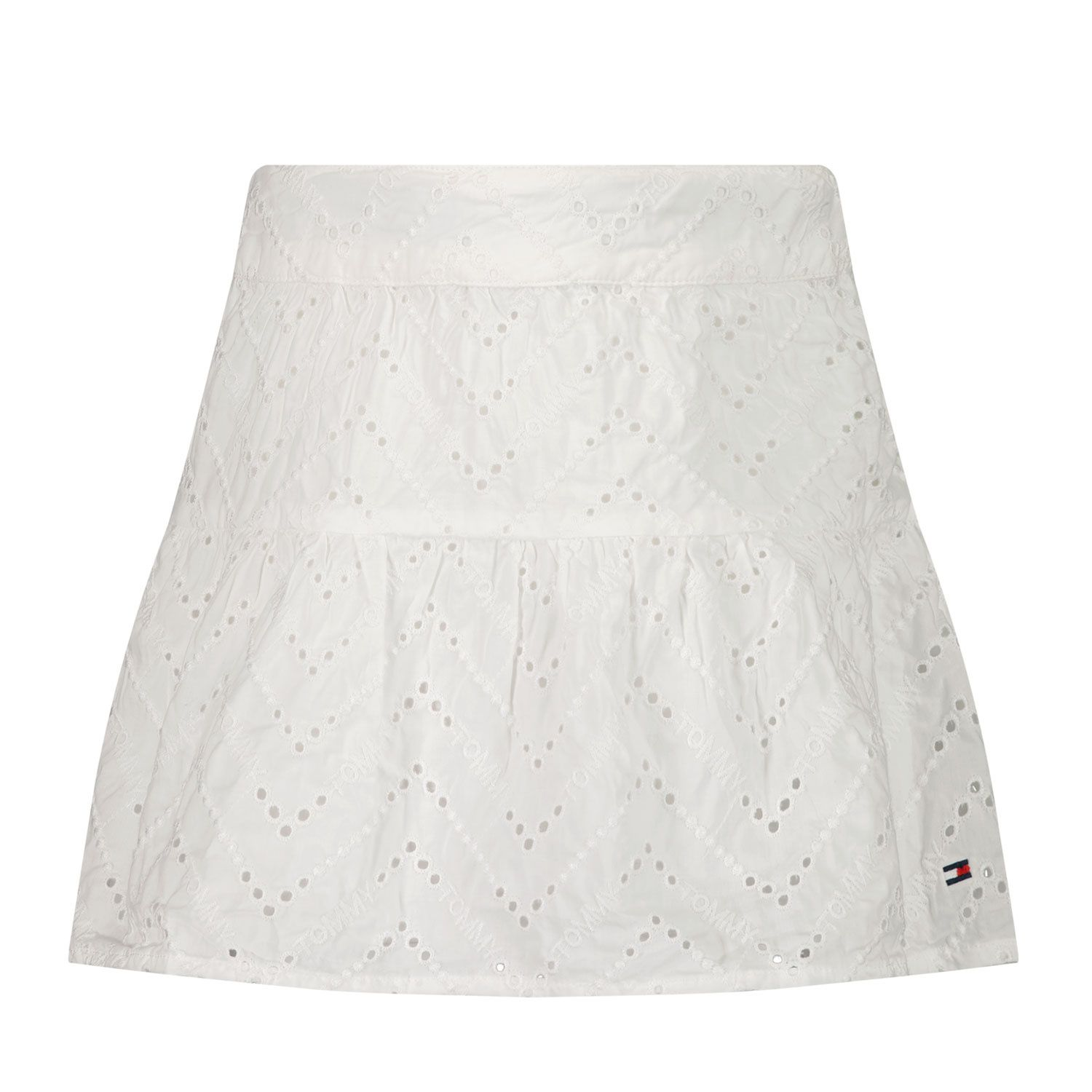 Picture of Tommy Hilfiger KG0KG05630B baby skirt white