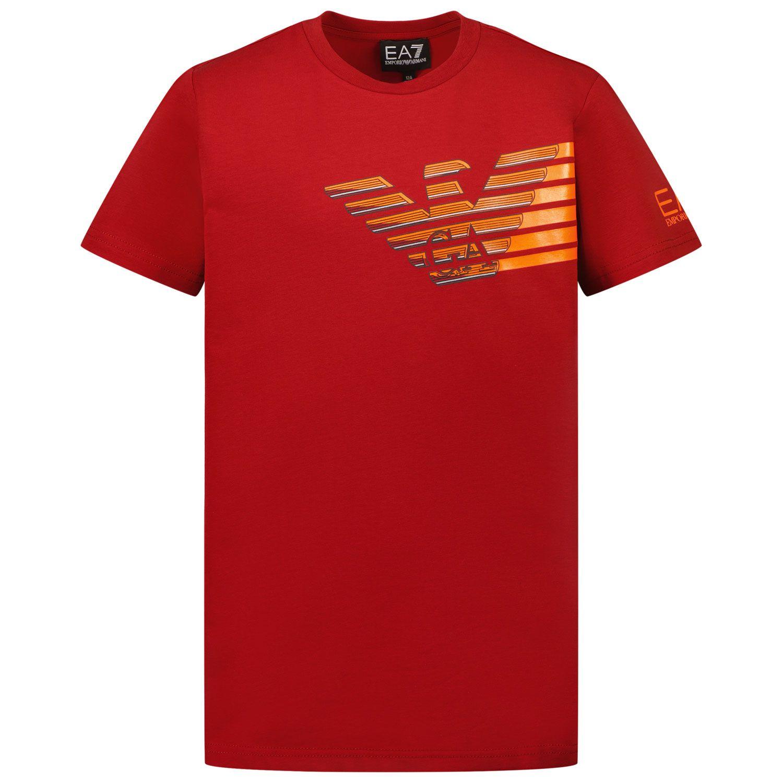 Picture of EA7 6KBT60 kids t-shirt bordeaux