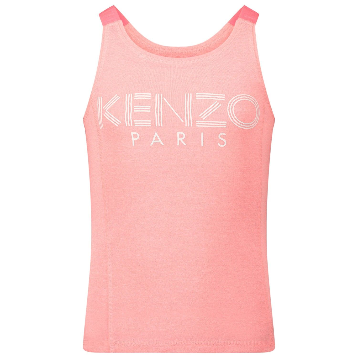 Picture of Kenzo 10288 kids t-shirt fluoro pink