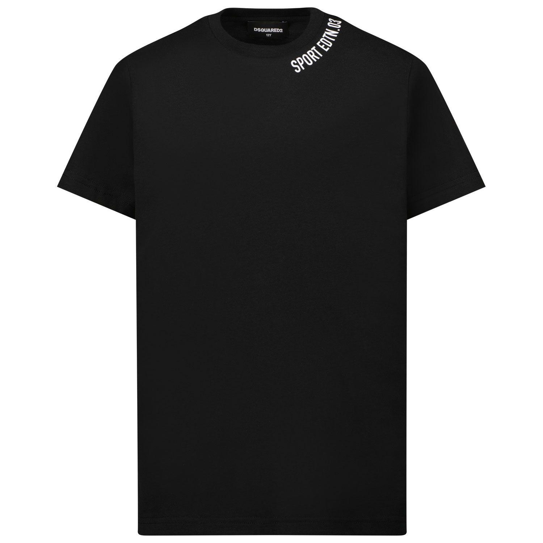 Afbeelding van Dsquared2 DQ0035 kinder t-shirt zwart