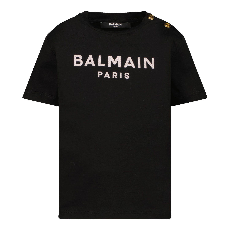 Picture of Balmain 6P8831 baby shirt black