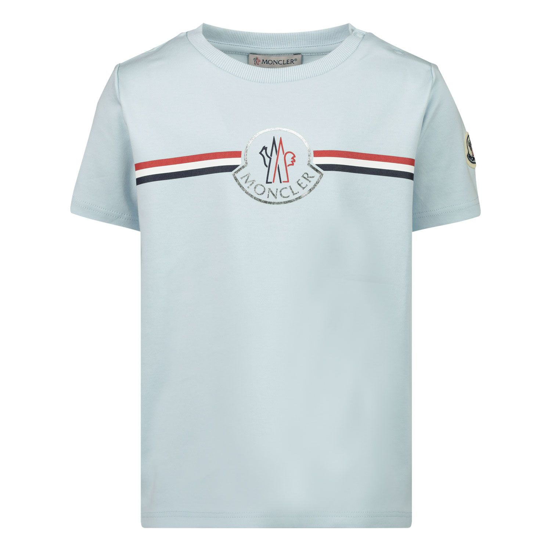 Afbeelding van Moncler 8C71700 baby t-shirt licht blauw