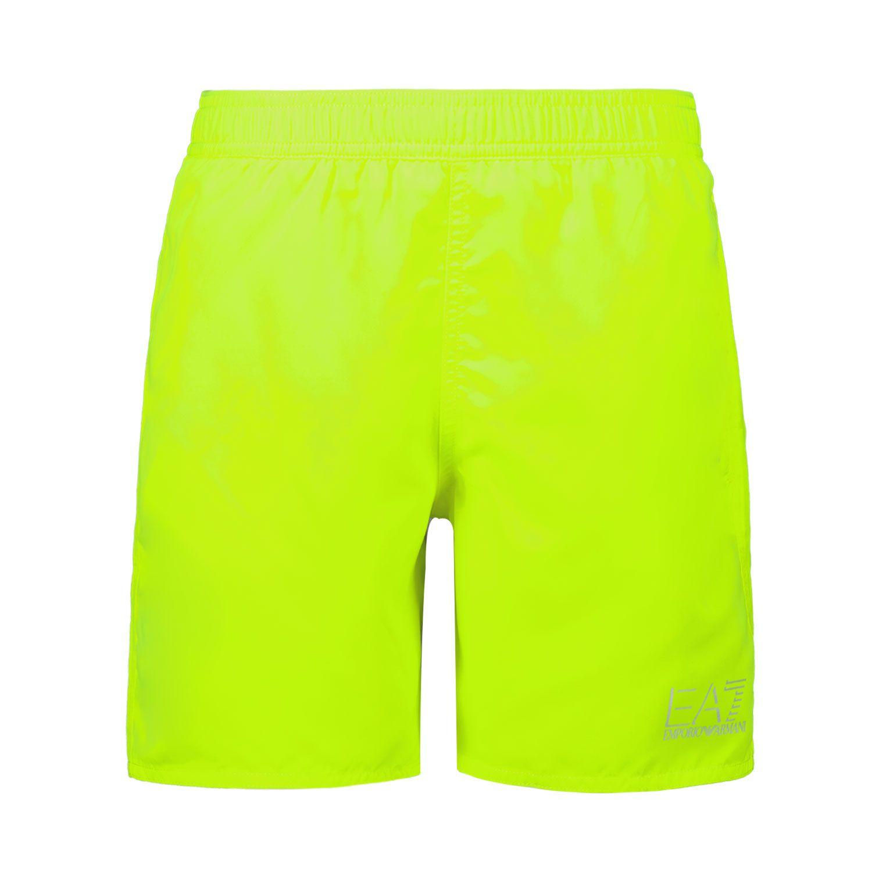 Picture of EA7 906005 kids swimwear fluoro yellow