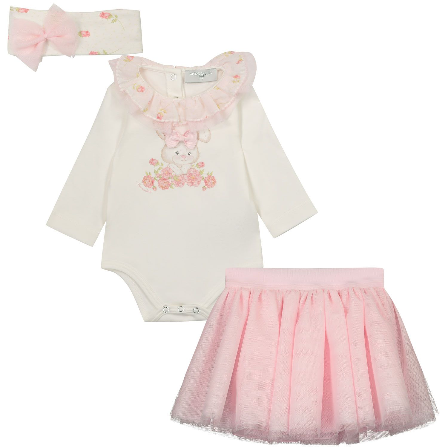 Picture of MonnaLisa 35750S7 baby set light pink