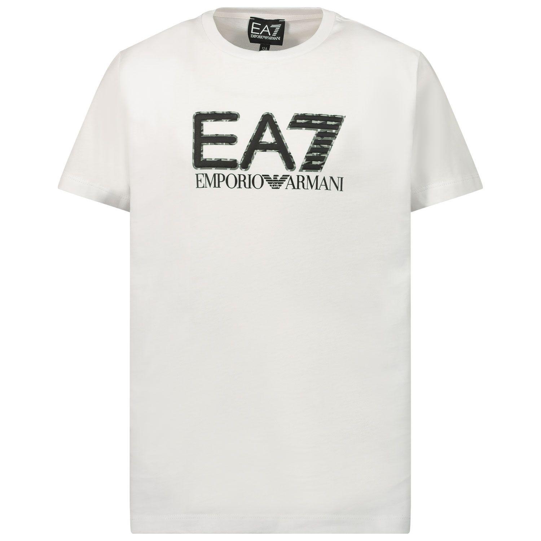 Afbeelding van EA7 3KBT53 kinder t-shirt wit