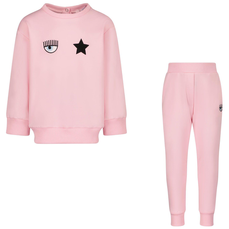 Picture of Chiara Ferragni 538500 baby sweatsuit pink