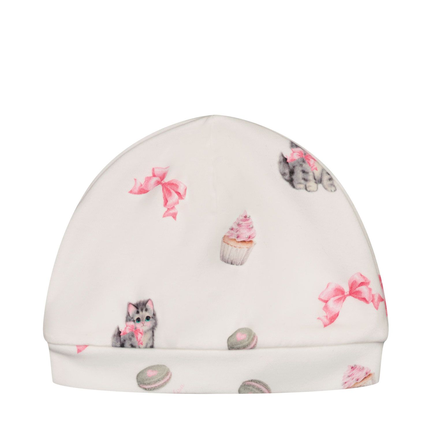 Picture of MonnaLisa 358001 baby hat off white