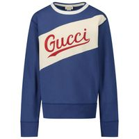 Picture of Gucci 626947 kids sweater blue