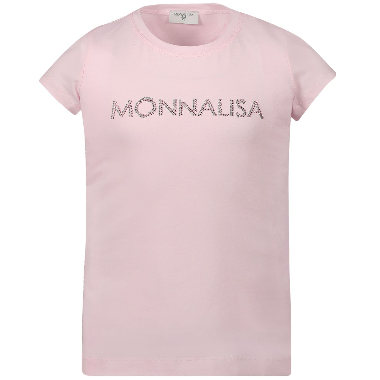 Picture of MonnaLisa 175TSH kids t-shirt light pink