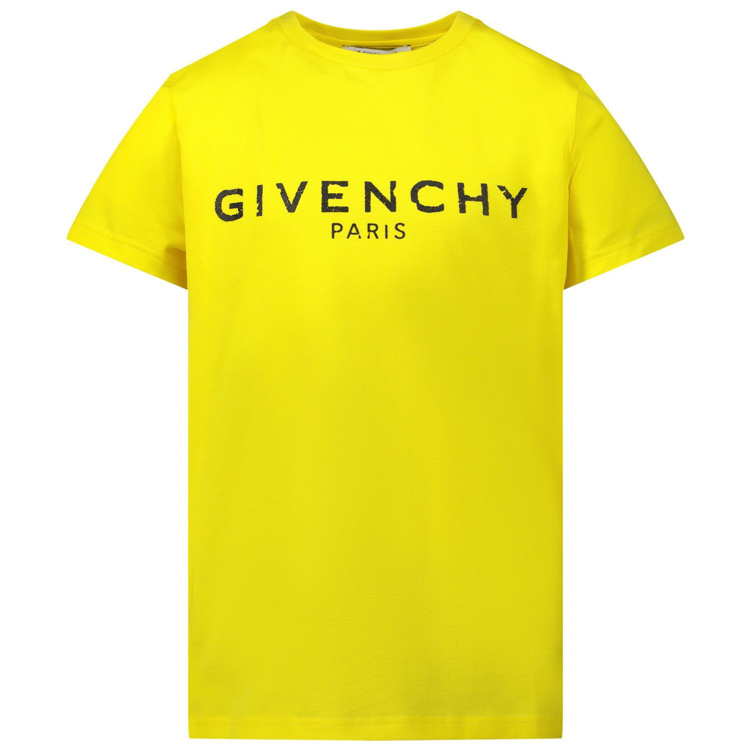 Picture of Givenchy H25J47 kids t-shirt yellow