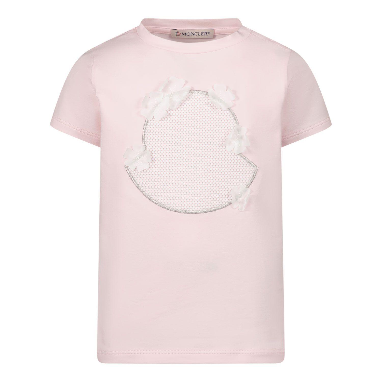 Afbeelding van Moncler 8C73210 baby t-shirt licht roze