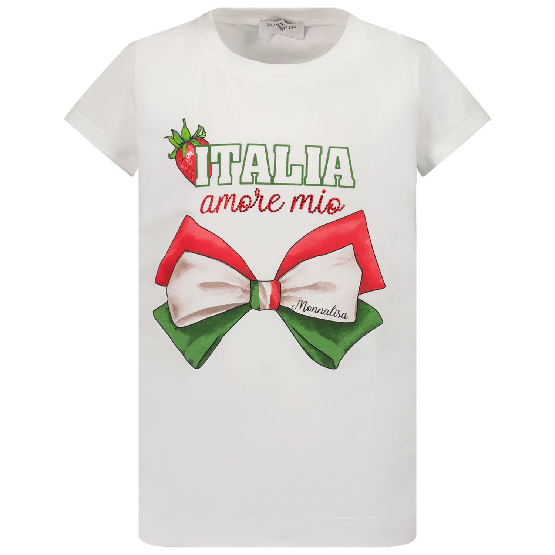 Afbeelding van MonnaLisa 117619P3 kinder t-shirt wit