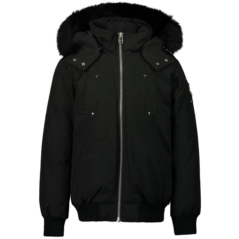 Picture of Moose Knuckles MK2633YBB kids jacket black